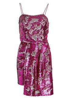 Derek Lam Lani Reversible Sequin Draped Dress