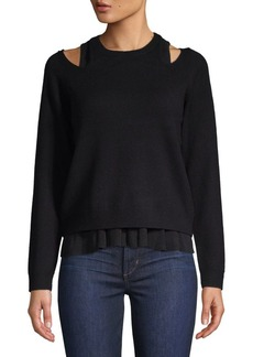 Derek Lam Layered Wool-Blend Sweater