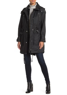Derek Lam Leather Trim Anorak Jacket & Vest Liner 2-Piece Set