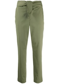 Derek Lam Leda Tie Waist Relaxed Twill Trousers