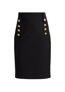 Derek Lam Lenox Button Pencil Skirt