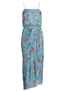 Derek Lam Lexi Metallic Floral Wrap Dress
