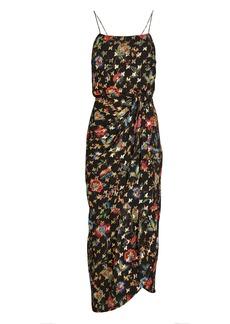 Derek Lam Lexi Lurex Floral Sarong Dress