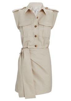 Derek Lam Linen-Cotton Twill Mini Cargo Dress