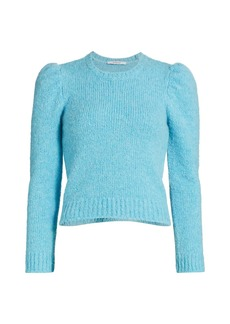 Derek Lam Locken Puff-Sleeve Knit Sweater