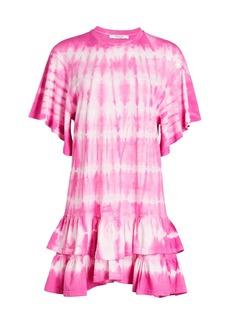 Derek Lam Lois Tie-Dye Ruffle Dress