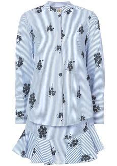 Derek Lam Long Sleeve 2-In-1 Shirtdress With Ruffle Skirt