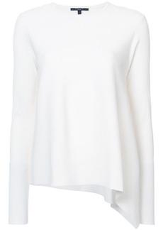 Derek Lam Long Sleeve Asymmetrical Crewneck Pullover