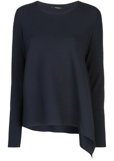 Derek Lam Long Sleeve Asymmetrical Knit Pullover