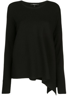 Derek Lam Long Sleeve Asymmetrical Knit Pullover