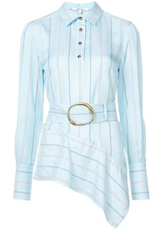 Derek Lam Long Sleeve Belted Asymmetrical Shirt