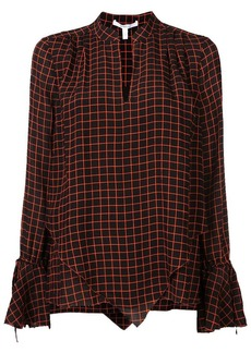 Derek Lam Long Sleeve Blouse with Tie Cuffs