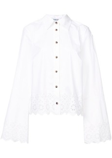 Derek Lam Long Sleeve Button-Down Shirt With Eyelet Embroidery