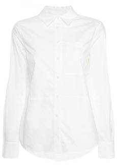 Derek Lam Long Sleeve Button-Down Shirt With Ruffle Detail
