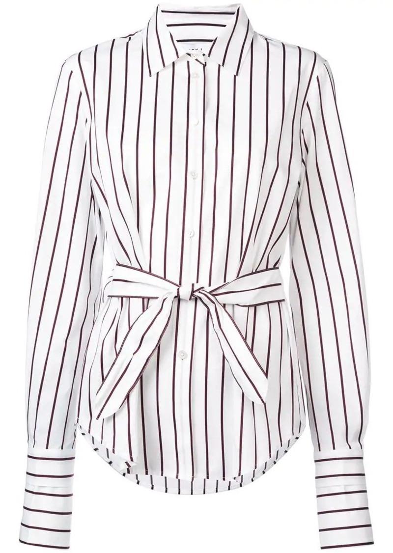 Derek Lam Long Sleeve Button-Down Shirt with Waist Ties