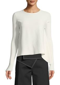 Derek Lam Long-Sleeve Crewneck Pullover Sweater