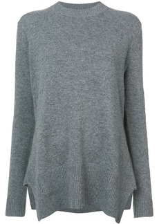 Derek Lam Long Sleeve Crewneck Sweater with Godet Inserts