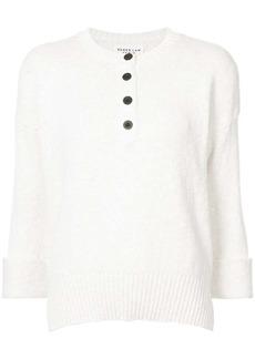 Derek Lam Long Sleeve Henley Sweater