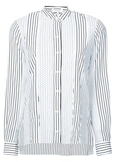 Derek Lam Long Sleeve Mixed Print Blouse