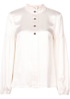 Derek Lam Long Sleeve Mock Neck Blouse with Buttons