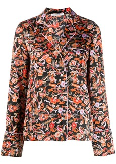 Derek Lam Long SLeeve Paisley Print Pajama Shirt