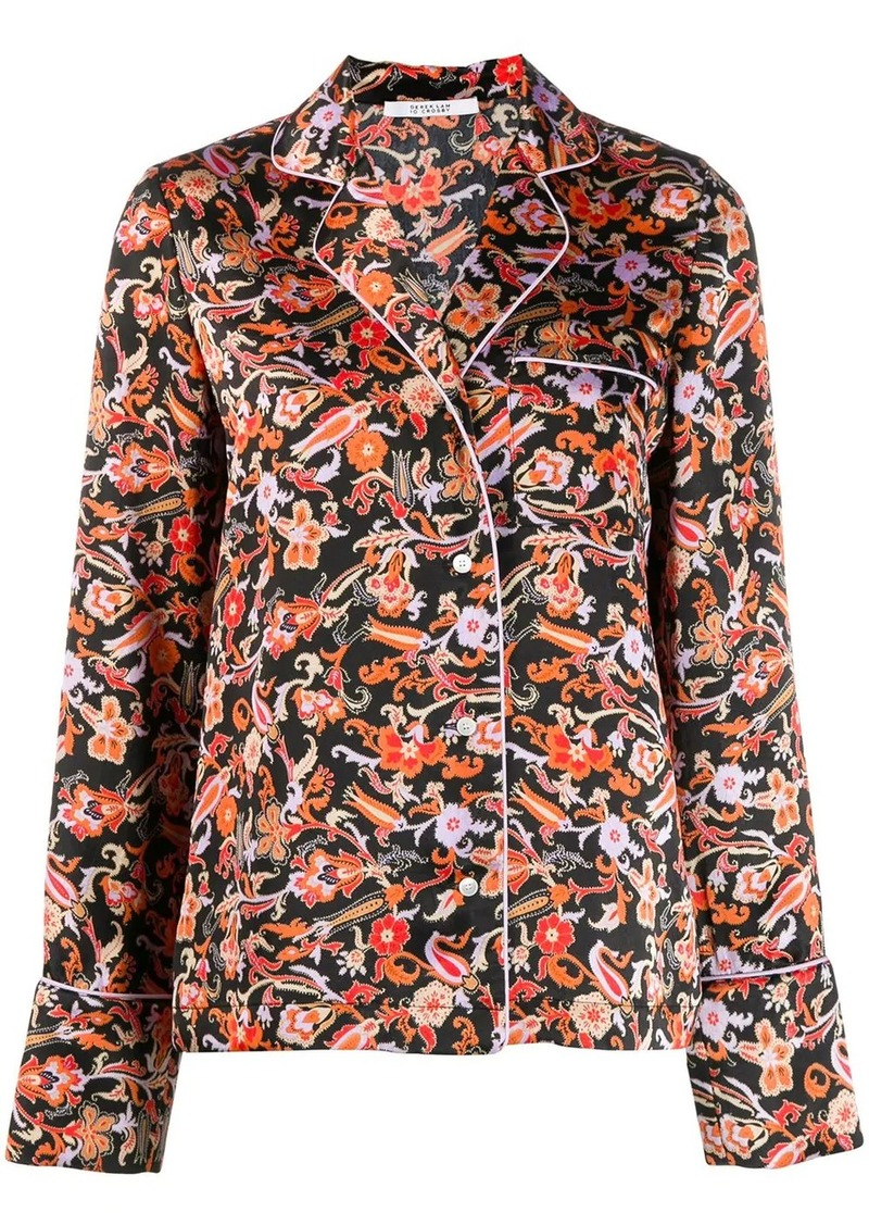 Long SLeeve Paisley Print Pajama Shirt