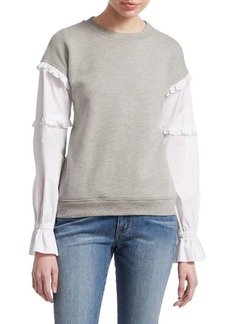 Derek Lam Long-Sleeve Poplin Sweatshirt