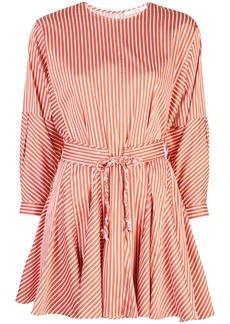 Derek Lam Long Sleeve Striped Godet Skirt Dress