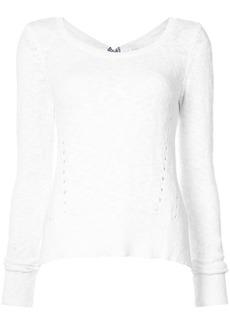 Derek Lam Long Sleeve Sweater With Woven Back Ties