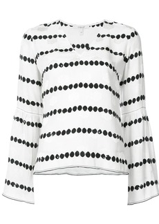 Derek Lam Long Sleeve V-Neck Blouse With Bell Sleeves
