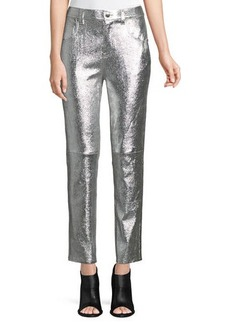 Derek Lam Lou High-Waist Patent Leather Cropped Skinny Pants