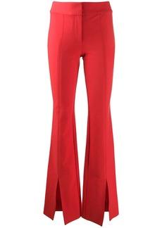 Derek Lam Maeve Slit Hem Crosby Cotton Twill Flare Trousers
