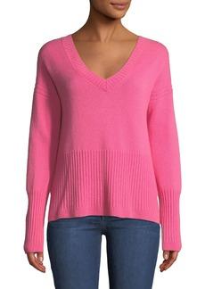 Derek Lam Melange Cashmere V-Neck Sweater