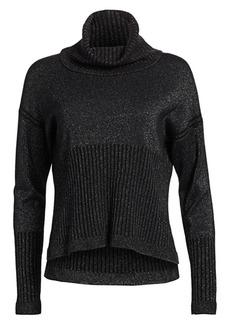 Derek Lam Merino Wool & Cashmere Sparkle Sweater