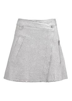 Derek Lam Metallic Wrap Mini Skirt