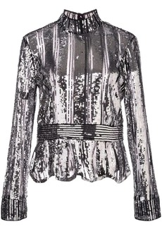 Derek Lam metallic party blouse