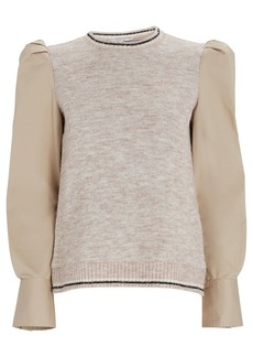 Derek Lam Milton Mixed Media Sweater