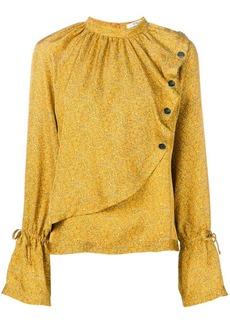 Derek Lam mini paisley asymmetric blouse