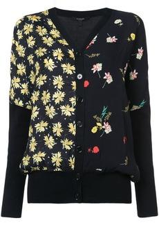 Derek Lam Mixed Print Dolman Sweater