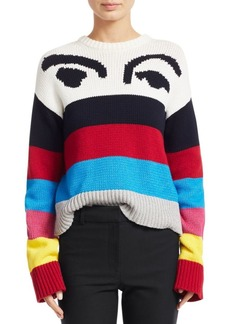 Derek Lam Multicolor Stripe Graphic Sweater