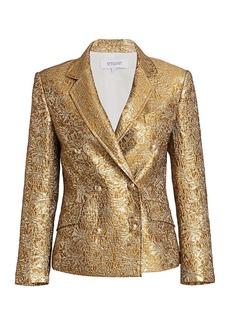 Derek Lam Myla Metallic Double-Breasted Jacket