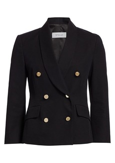 Derek Lam Myra Double-Breasted Crop Blazer