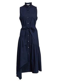Derek Lam Nerioa Lace Insert Tie-Wiast Maxi Dress