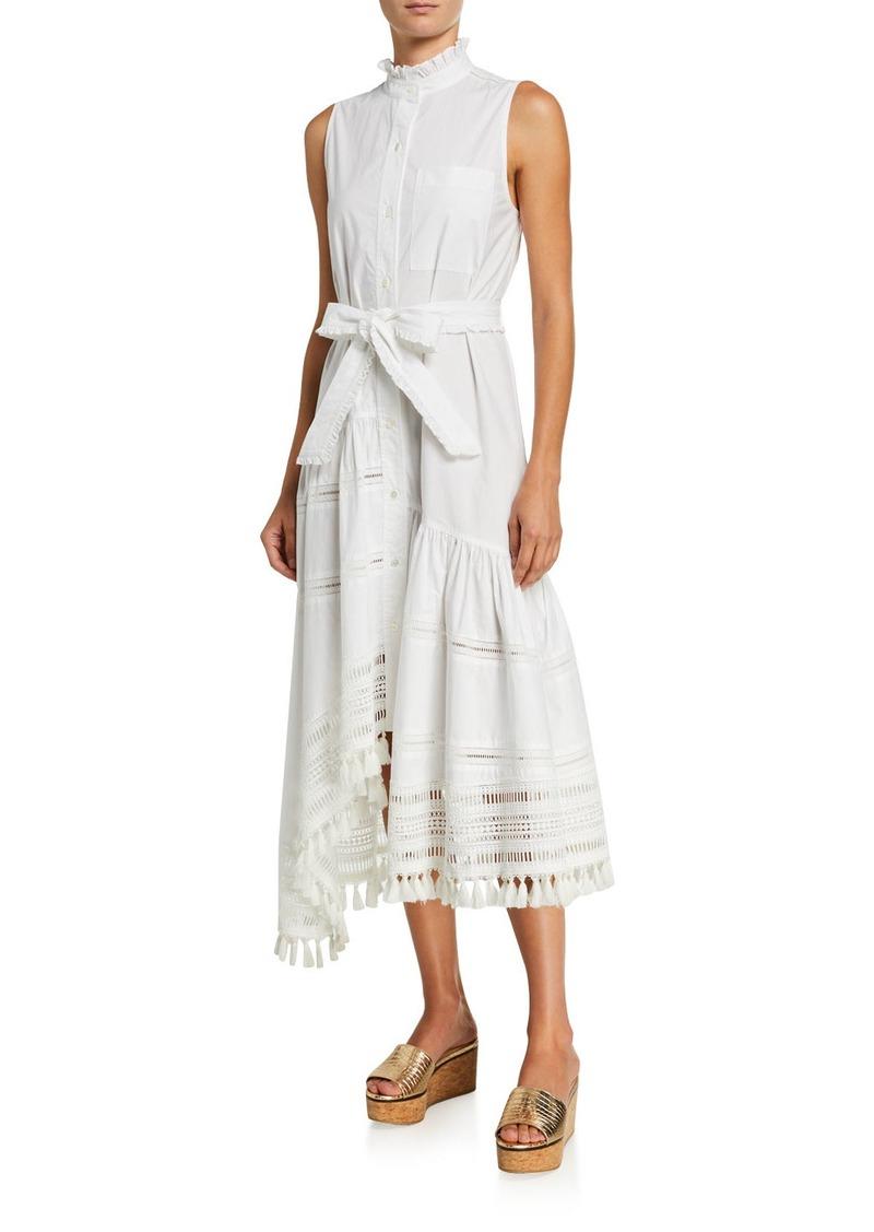 Derek Lam Nerioa Lace-Inset Maxi Dress