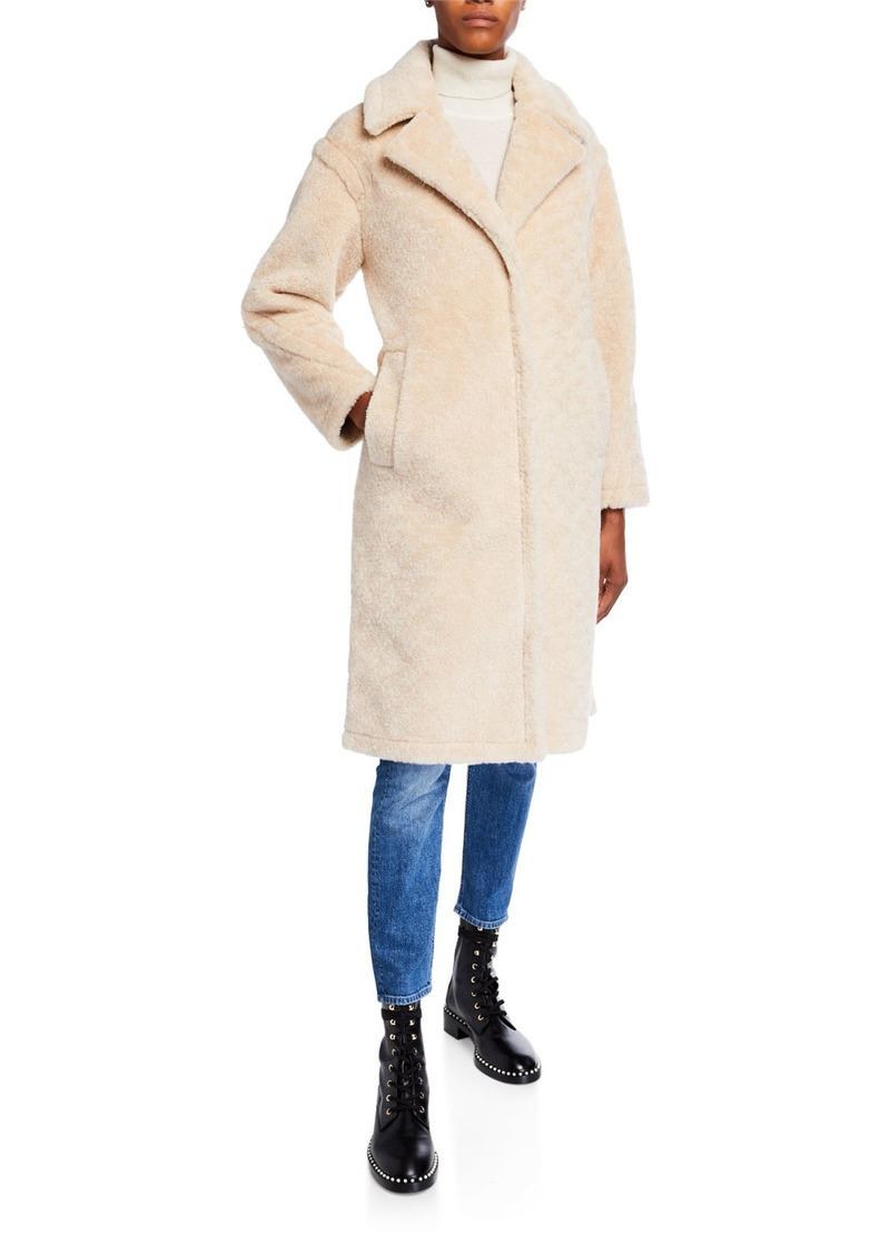 Derek Lam Notch Collar Lamb Shearling Long Coat