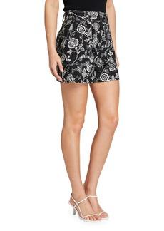 Derek Lam Odette Floral Print Shorts
