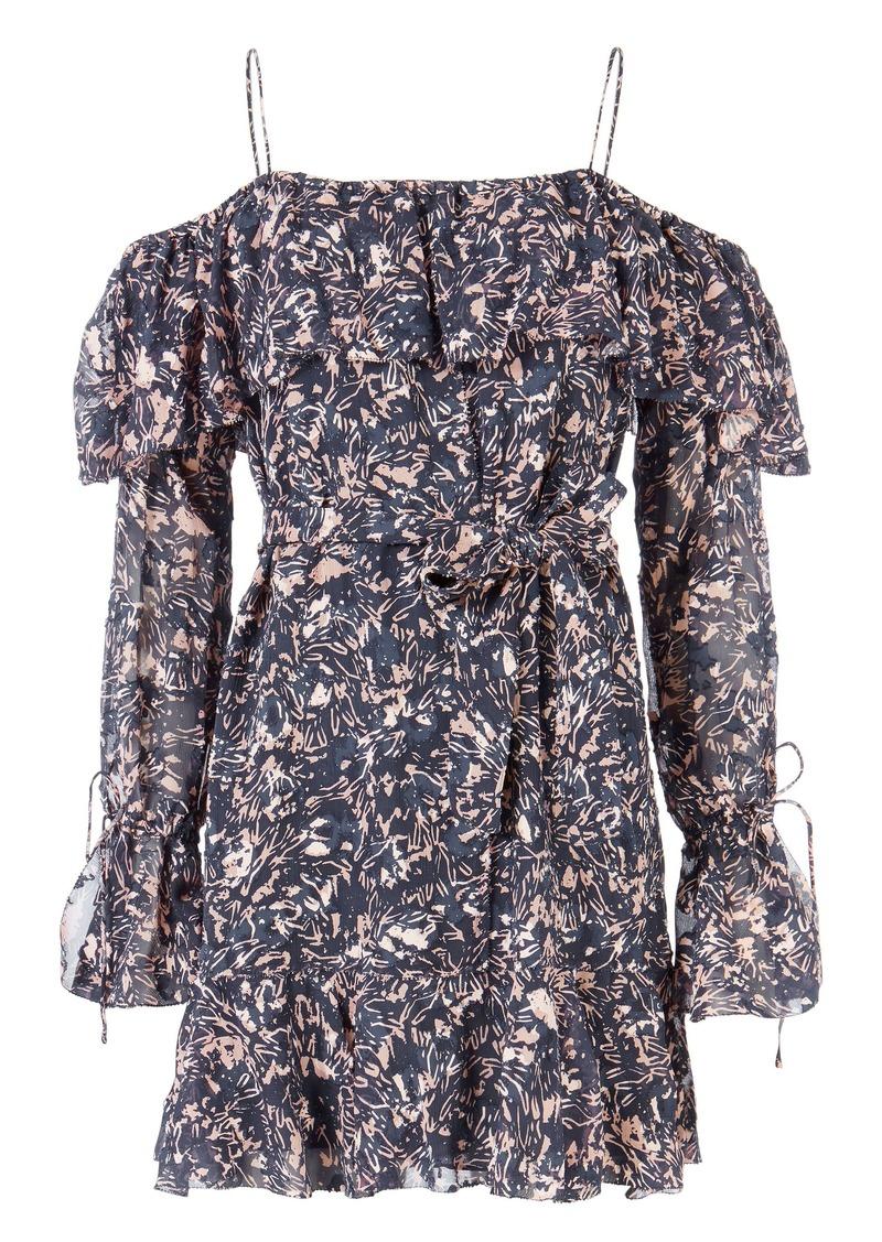 Derek Lam Off Shoulder Printed Mini Dress