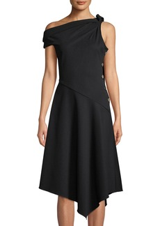 Derek Lam One-Shoulder Asymmetric Midi Dress