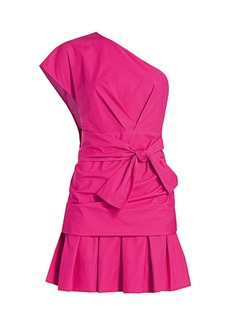 Derek Lam One-Shoulder Mini Fit & Flare Dress