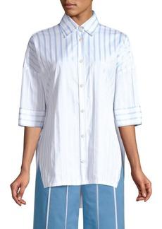 Derek Lam Oversized Striped Button-Down Shirt